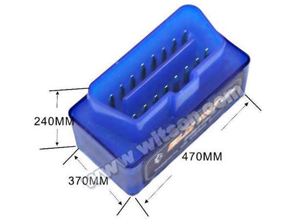 WITSON versión V2.1 Super Mini ELM 327 Bluetooth OBD II 2 escáner de diagnóstico para Android dvd adaptador Multi-protocolo apoyo