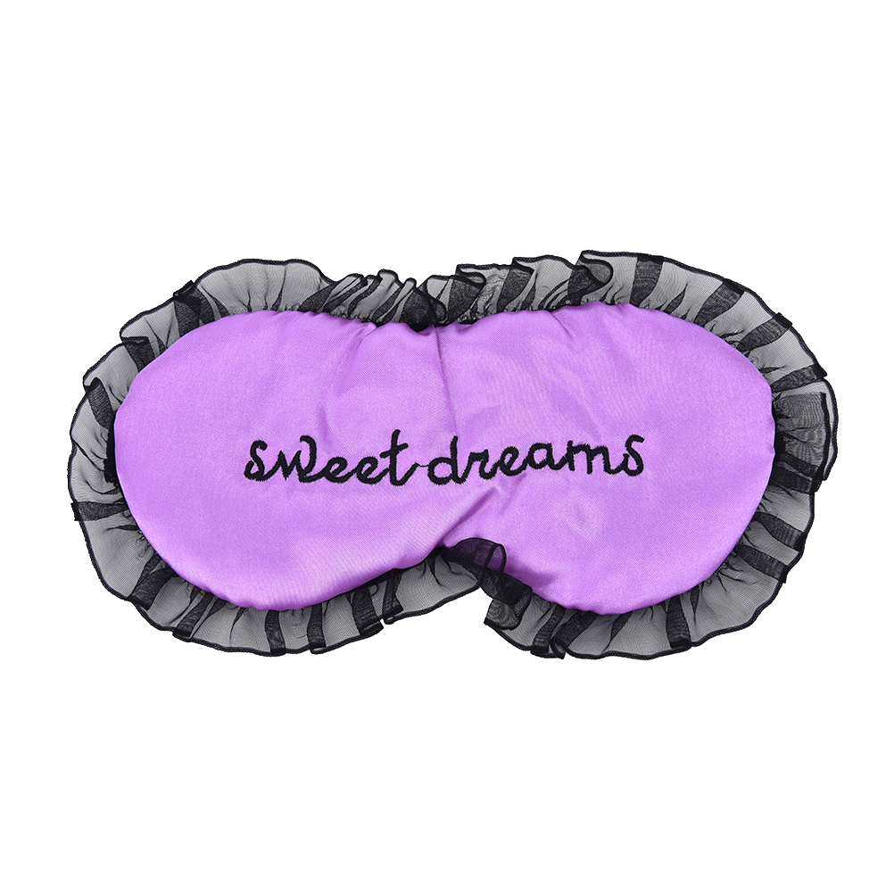 Duplex Silk Sleeping Eye Mask Sexy Eye Shade Sleep Mask Black Mask Bandage on Eyes for Sleeping 3