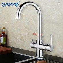 GAPPO 1set Deck Mounted font b Kitchen b font sink font b Faucet b font Double