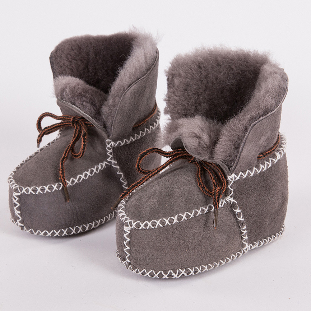Winter Baby Shoes Warm Booties Sheepskin Baby Boy Girl Shoes Wool Fur Children Footwear Toddler Baby Moccasins Infant Booties