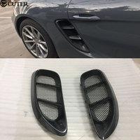 Hot 718 Car body kit Carbon fiber Side air inlet for Porsche Boxster 718 Cayman 2015