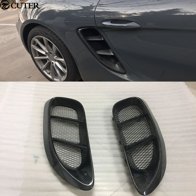 Hot <font><b>718</b></font> Car body kit Carbon fiber Side air inlet for Porsche <font><b>Boxster</b></font> <font><b>718</b></font> Cayman 2015 image