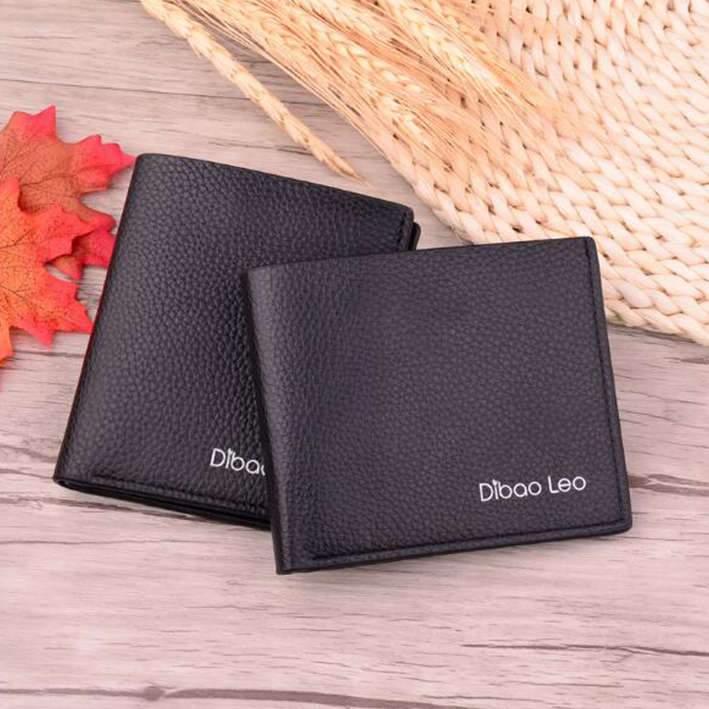 Кошелек мужской Men's Short Wallet Men's Korean Student Wallet Cardholder Hengjian Men's Wallet