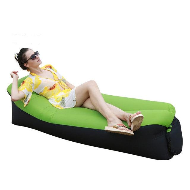 Inflatable Air Sofa Sleeping Bag Outdoor Garden Furniture Beach Lounger Chair Fast Folding Lazy Sofa Bed