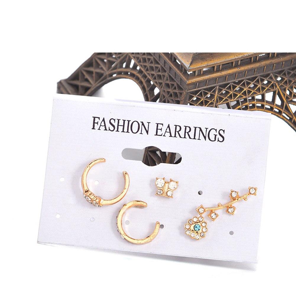 5pcsset 2017 France Pairs Amybaby Les Nereides Leaves Earrings Set