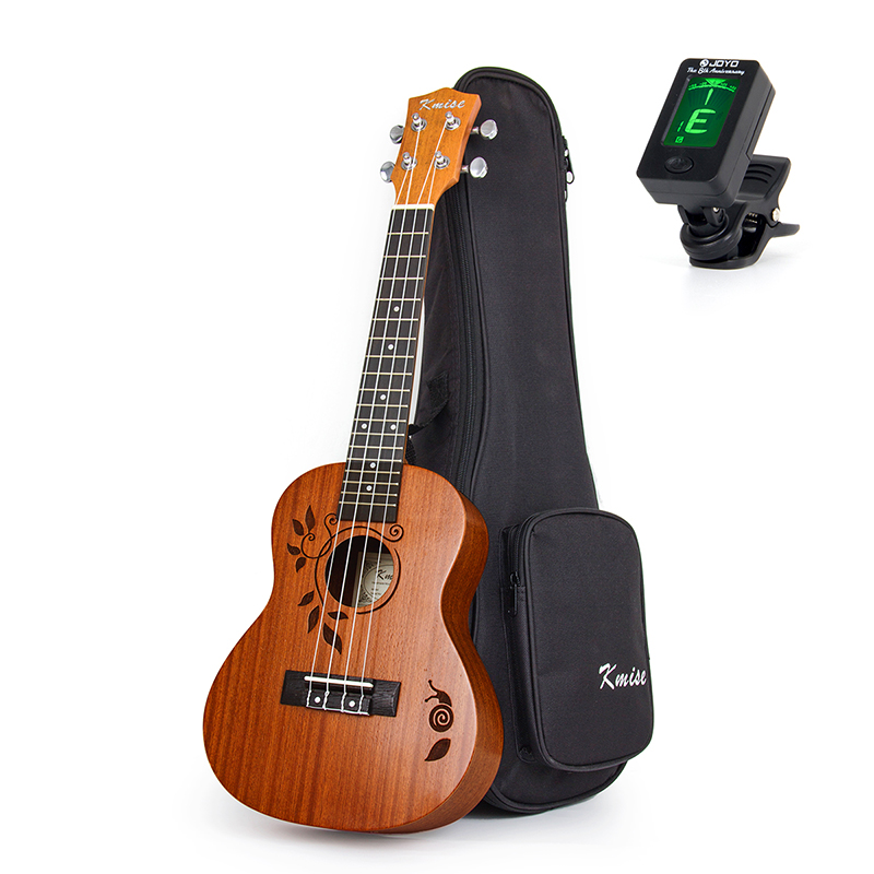 Kmise Concert Ukulele Ukelele Uke 4 String Hawaii Guitar 23 Inch 18 Frets with Gig Bag Tuner kmise soprano ukulele mahogany ukelele uke 21 inch with gig bag tuner strap string capo sand shaker cleaning cloth beginner kit