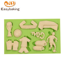 World Cup Football Equipments Series Silicone Mold Gloves Trophy Shoes