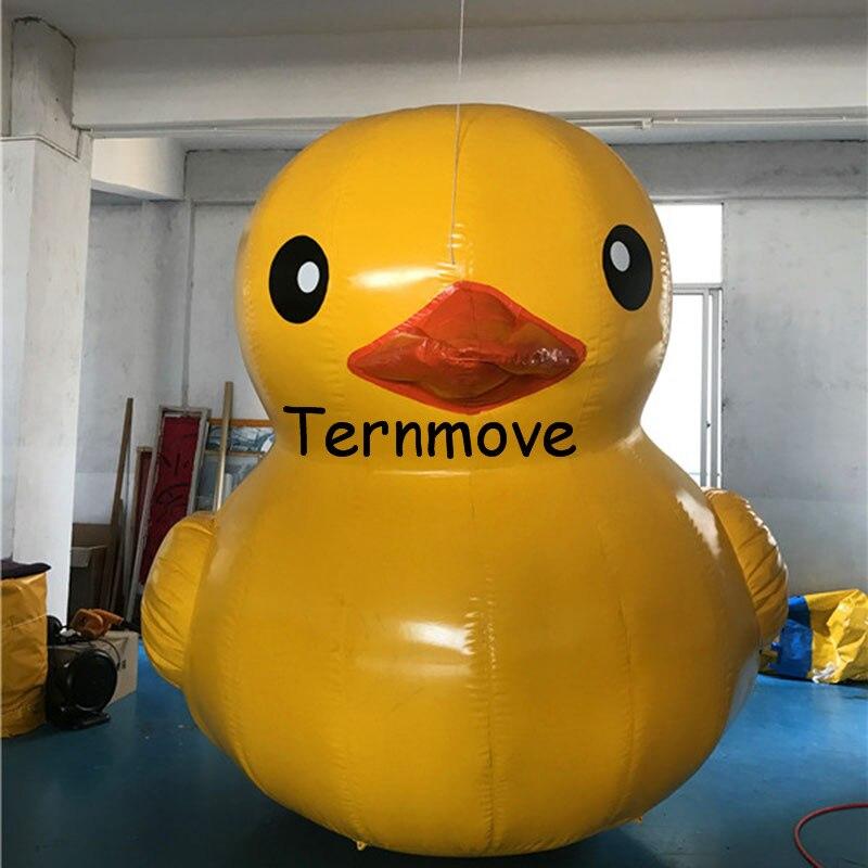L'eau gonflable géante de publicité flottant l'animal jaune de canard dans la mer/piscine/lac jouets gonflables de bâche de pvc