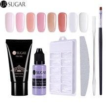UR Sugar 30ml Poly Gel Finger Extension Crystal Jelly Nail Gel Camouflage UV LED Hard Gel Acrylic Builder Nail Art Gel
