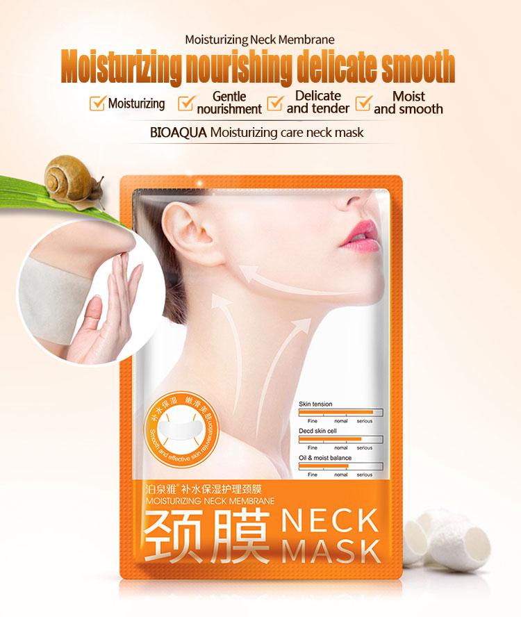 โรงงานราคา! 100 pcs BIOAQUA Hyaluronic Acid คอหน้ากากยกกระชับ Moisturizing Whitening Mask Silk Smooth Beauty Skin Care-ใน คอ จาก ความงามและสุขภาพ บน   3