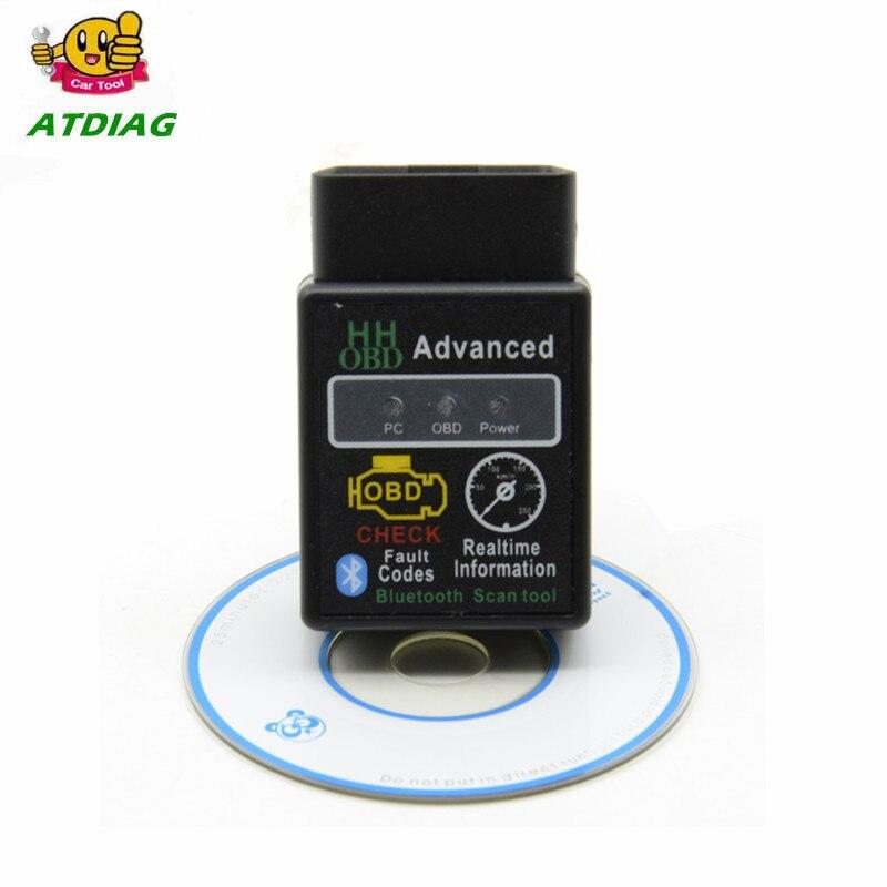 Мини ELM327 V2.1 Bluetooth HH OBD Расширенный OBDII OBD2 ELM 327 Автомобильный диагностический сканер считыватель кодов Сканер горячая распродажа
