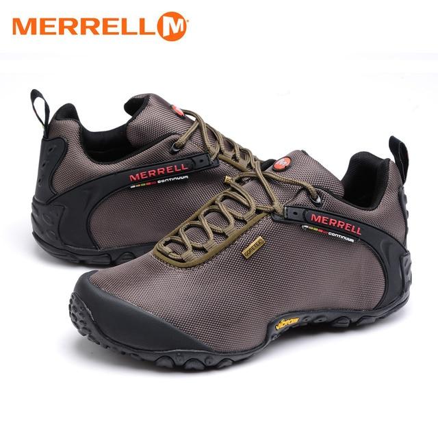 Asli Merrell Pria Bernapas Camping Hiking Sepatu Pria Tahan Air Mendaki  Gunung Perjalanan Olahraga Outdoor Jala 81137d6a23