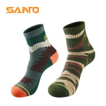 3 Pairs SANTO S007 Outdoor 78% Cotton Camouflage Socks Mens Sports Quick Dry Warm Spring Winter Fit to Size 39-43