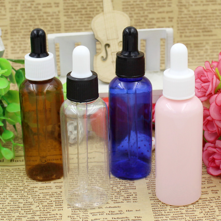 10/30/50pcs 50ml High Quality Plastic PET Dropper Bottle For Essential Oil 50cc Rubber Dropper Bottles Container Free Shippping 30 ml clear glass dropper essence oil bottles emulsion cosmetics packing bottle 30 cc of essential oils packaging container