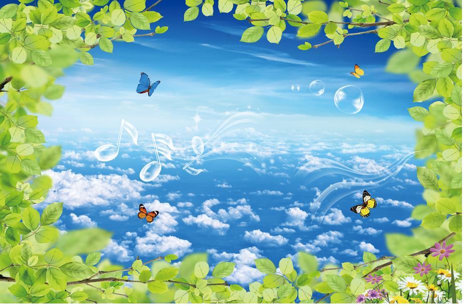 Benutzerdefinierte tapetenwandbilder HD sky blue himmel 3d tapete ...