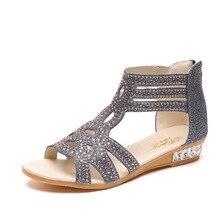 Hersevll/женские сандалии; коллекция года; повседневная Летняя обувь в римском стиле; модные сандалии-гладиаторы с заклепками; женские сандалии; sandalia Mujer