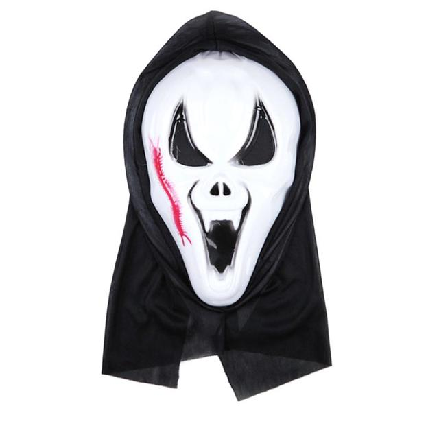 1 PCS Halloween Ghost Mask Scream Costume Party Mask Creepy Scary ...