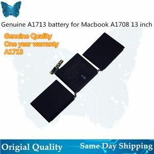 """Image 1 - GIAUSA ordinateur portable A1713 batterie pour Apple Macbook Pro 13 """"pouces A1708 MLL42CH/A MLUQ2CH/A 4781mAh 54.5Wh 11.4V"""