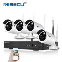 MISEC 2.0MP Wifi 2.4 גרם ערכת Plug & Play 1080 P VGA/HDMI P2P WIFI NVR IP מצלמה מתכת FULL HD ראיית הלילה אלחוטי עמיד למים טלוויזיה במעגל סגור