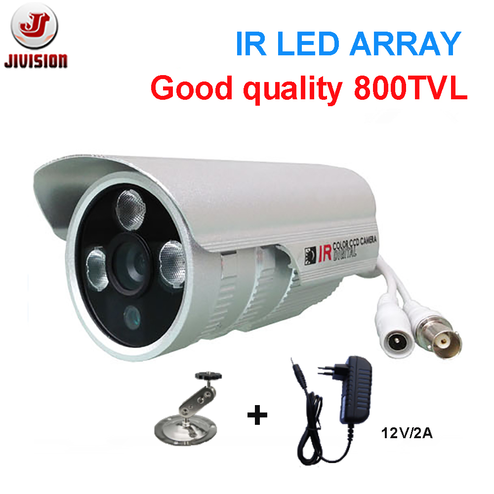 IR bullet camera 800TVL TI139 IR ARRAY leds distance 50m outdoor surveillance CCTV Camera with bracket and power free cctv camera housing aluminum alloy for bullet box camera with bracket for extreme cold or warm outdoor built in heater and fan