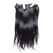 Brazilian Virgin Hair Clip In Human Hair Extensions Straight Natural Hair Extension Clip 7 Pcs 120 Grams/Set CARA Natural