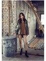 2016 Осень новое пальто женский темно-зеленый сюртук вышитые патч заклепки прилив Корейский большой ярдов