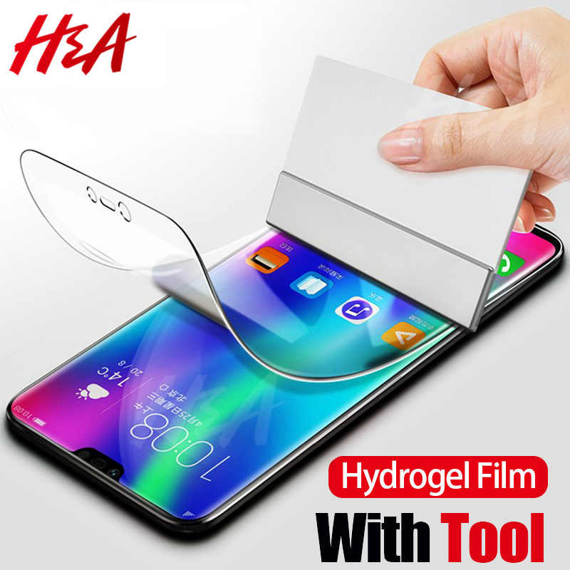 H&A Screen Protector on the For Huawei P20 Lite Pro Honor 9 8 Lite V10 Not Glass 0.17mm 4D Curved Soft P10 Plus Hydrogel Film