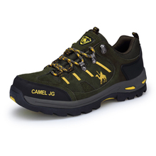 GOMNEAR Sneakers Men Outdoor Fishing Trekking Tourism Non-Slip Camping Sports Shoes  Comfortable Leather Men's  Boots Black shoe