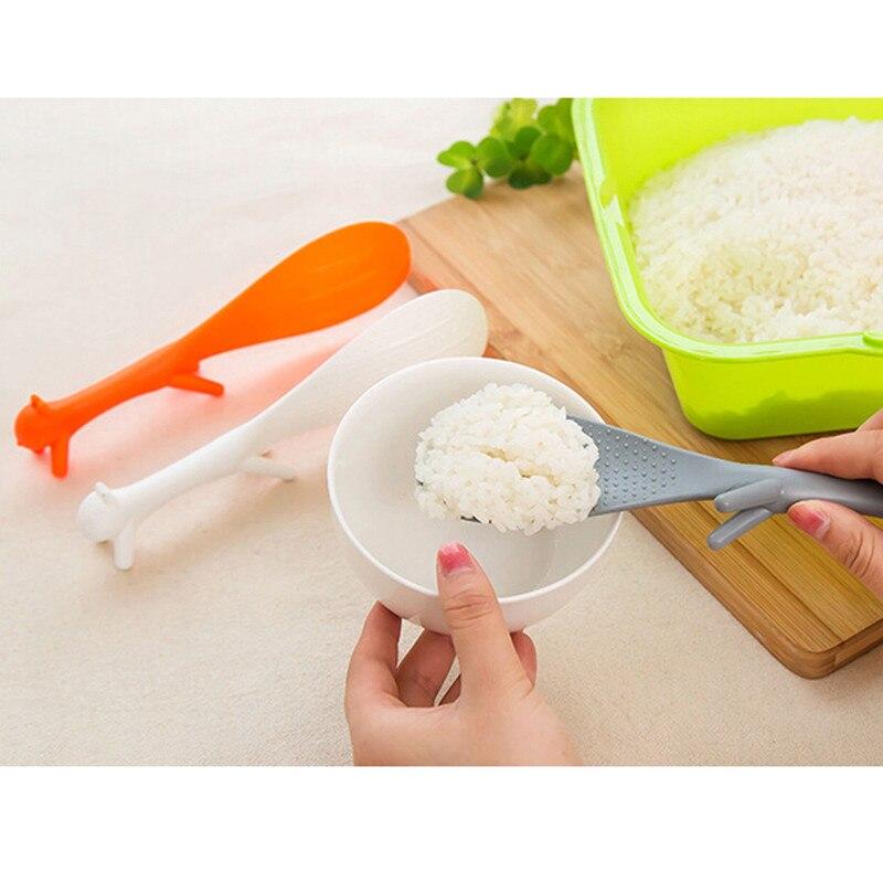 1 шт. ложка Прекрасный кухонный инвентарь в форме белки ковш антипригарное рисовое весло ложка кухонные принадлежности гаджет