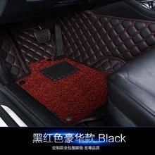 Silk ring car floor mats for BLUEBIRD SUNNY Pathfinder PICKUP TEANA TIIDA Sylphy Geniss cefiro X-TRAIL CIMA CC case rugs set pad цена в Москве и Питере