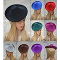 Circle Wool Felt Fedoras Cap Fascinator DIY Hat Base Cocktail Party Hat Wedding Elegant Dance Hats Form Ladies Hats Pillbox Hat