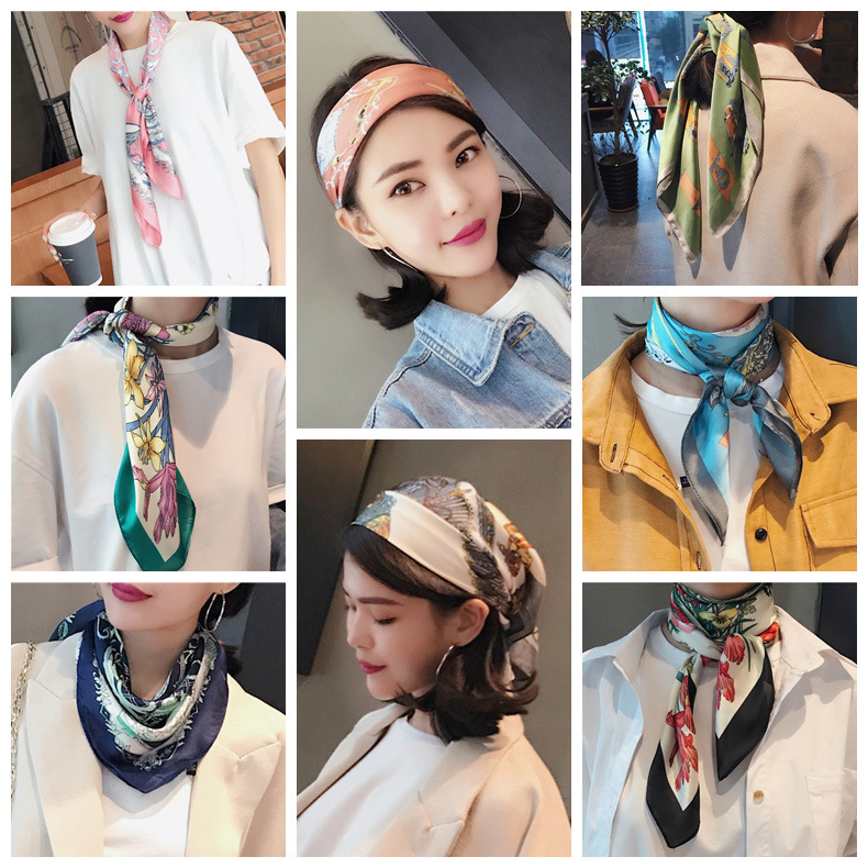 HTB1sG4fLkvoK1RjSZPfq6xPKFXa8 - 70*70cm Fashion Kerchief Cartoon Scarf For Women Animal Print Hair Scarf Female Square Neckerchief Cute Headband Scarves