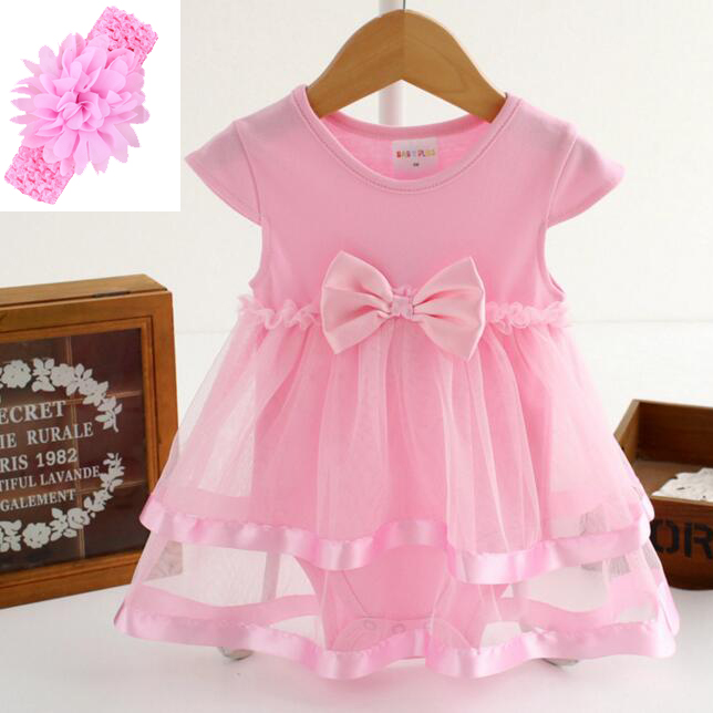 20/22 inch Reborn babies doll Ribbon bow white/pink dress with headband for silicone doll reborn clothes accessories kids gift