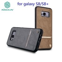 For Galaxy S8 Nillkin Classic PU Leather PC Hard Back Cover Phone Bag For Samsung Galaxy