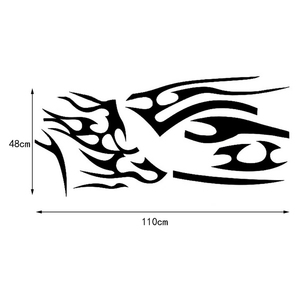 Image 5 - 1 Pair Fire Flame Car Stickers and Decals Whole Body Car Vinyl 2.2m Washable Auto Styling Car Accessories 3 Colors