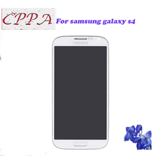For samsung galaxy s4 gt-i9500 i9505 I337 I545 lcd display Touch Screen with Digitizer assembly with frame Free shipping