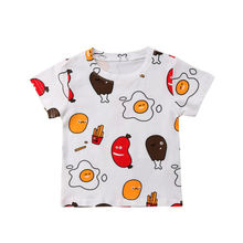 Newborn Toddler Baby Girls Boys Egg T-shirts Short Sleeve Tops Casual Tees Clothes