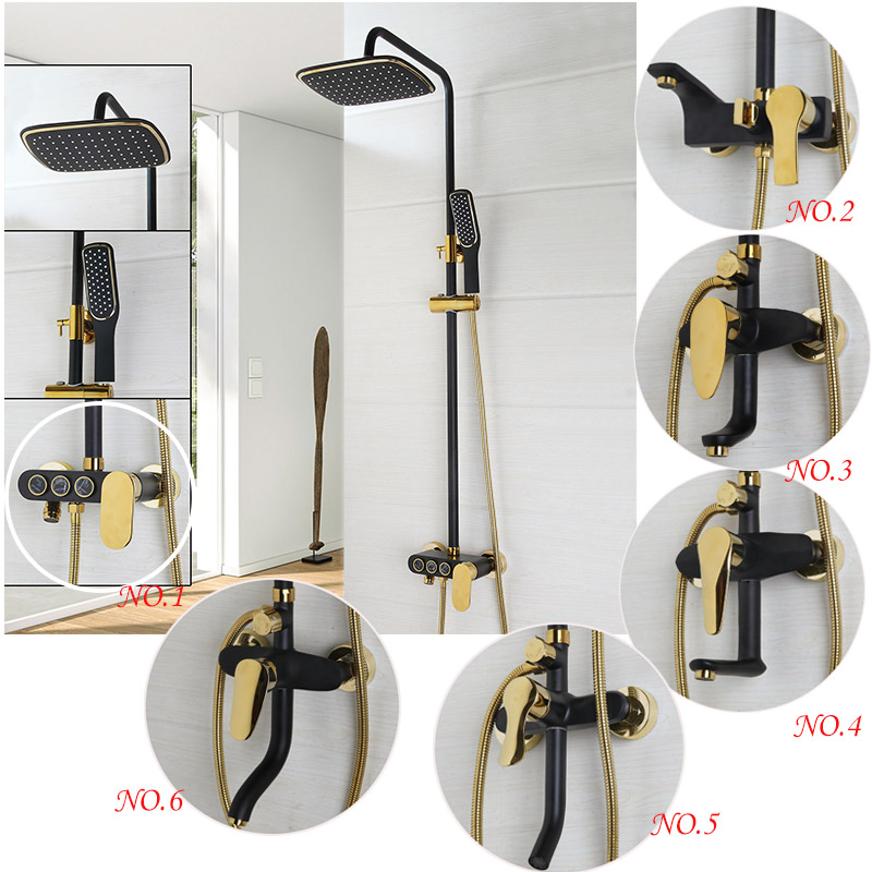New Rainfall Shower Sets ORB Faucets Bathroom Shower Single Handle Double Control Waterfall Shower Spray Mixer Tap Wall Mounted 8 led new wall mounted ultrathin spray square waterfall handheld shower chrome polished shower sets tap mixer faucet sets head