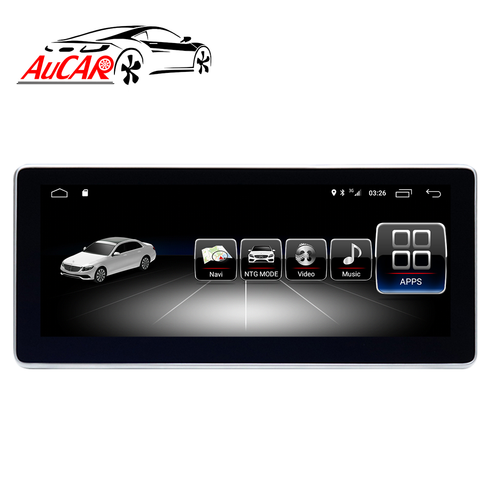 AuCAR Android Auto Radio fü<font><b>r</b></font> Mercedes Benz C Klasse W204 <font><b>S204</b></font> 2011-2014 GPS DVD Player Touch Screen Multimedia stereo Audio IPS BT image