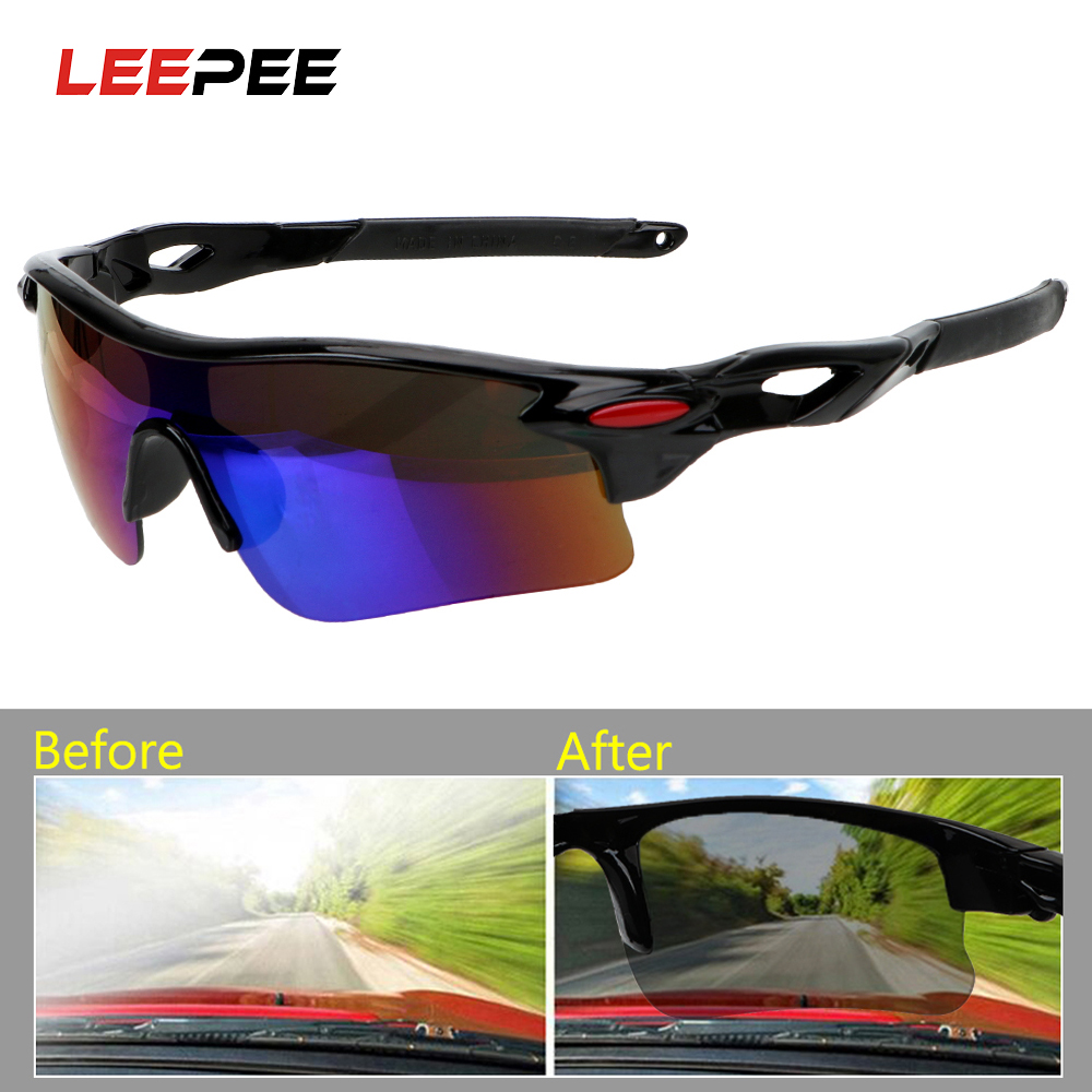 LEEPEE Car Night-Vision Glasses UV Protection Night Vision Drivers Goggles Motocross Sunglasses Explosion-proof Outdoor Sports