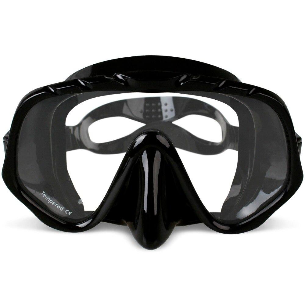 Copozz marca profesional Skuba máscara de buceo gafas de visión ancha equipo de deportes acuáticos con lente de una pieza subacuática Anti-niebla