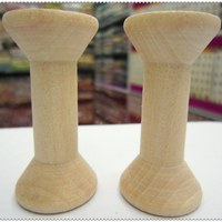 Free Shipping Wholesale 7cm Natural Color Wooden Bobine Classic Style DIY Tool Wood Roll Spool 10pcs