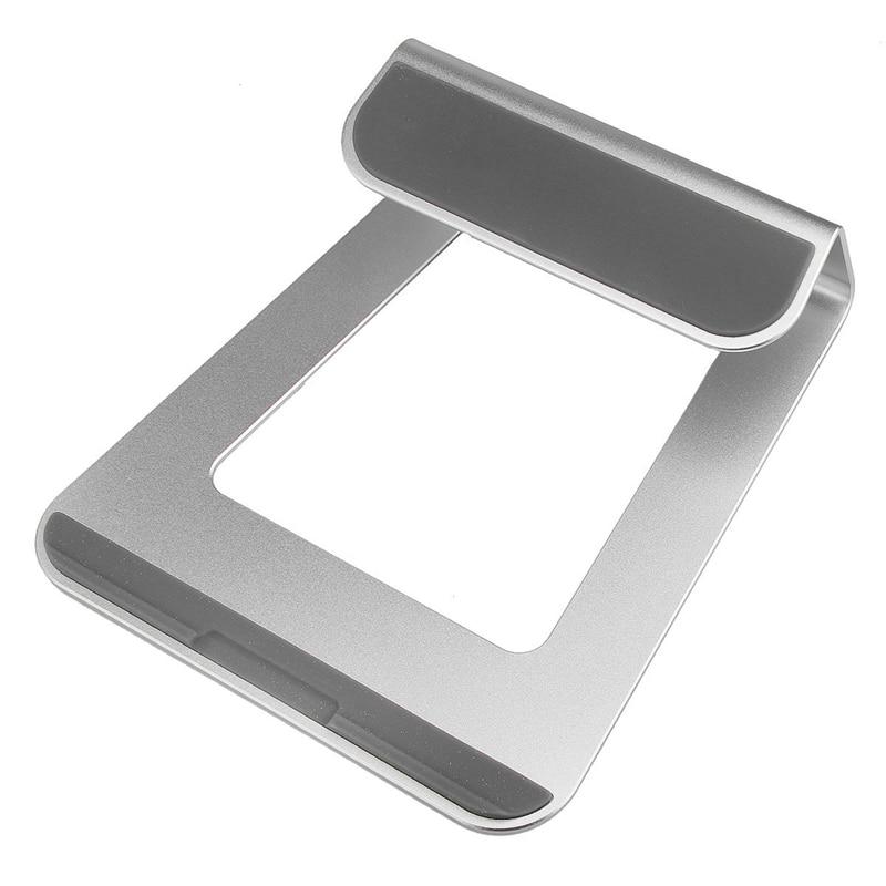 silver universal aluminum laptop stand tablet holder bracket cooling