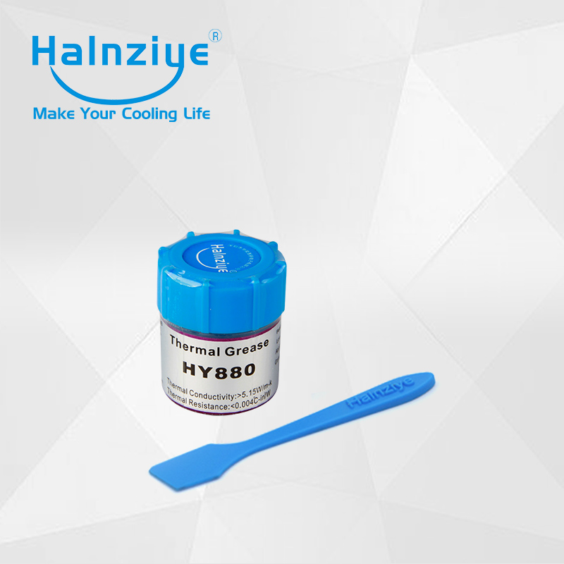 50pcs/lot can with 10g thermal grease / thermal paste / thermal compoound HY880 for fix computer & laptop ship by EMS