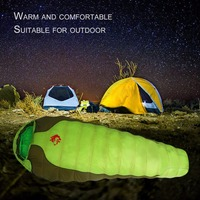 Jungle King CY 770 Portable Duck Down Nylon Sleeping Bag Comfortable Outdoor Camping Travel Envelope Sleeping