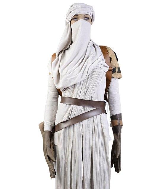 Star Wars VII The Force Awakens Costume Cosplat Full Set Uniform Rey Cosplay Costume Halloween Carnival Rey Costume Full Set 4