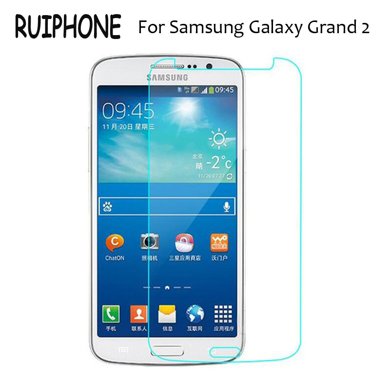 Anti-Shock Tempered Glass Film For Samsung Galaxy Grand 2 Duos G7102 G7105 G7106 G7108 G7109 G7108V Screen Protector On Grand2 image