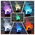 Cambio de 7 Colores de acrílico Ilusión 3D led de ahorro de energía lámparas de mesa decorativas Pterosaur dibujos animados lindo luz de la noche de los niños