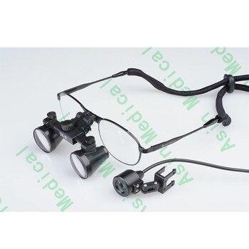 3.5X Titanium frames Binocular Dental Loupes Surgical Loupes with Headlight DEASIN