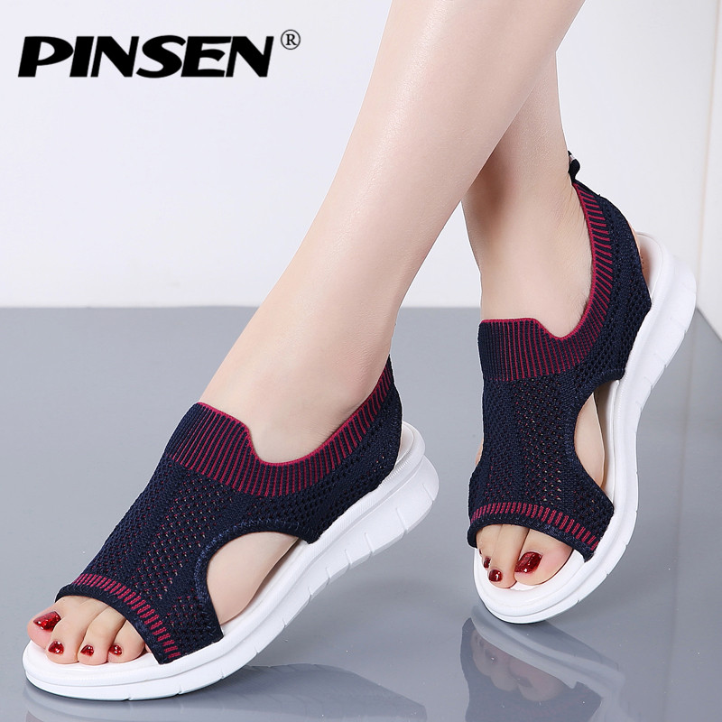 Fashion Summer Woman Sandals New Shoes Women 2019 Pinsen Comfortable HDI92WEY